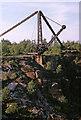 SK2463 : Stanton Moor steam crane by Richard Bird