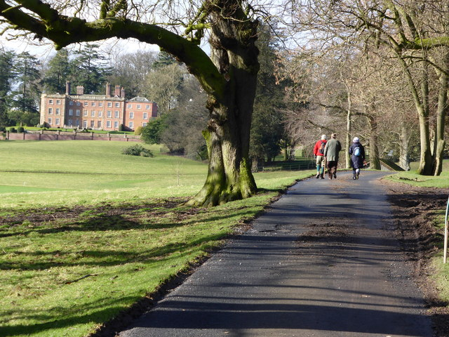 Walkers on the Downton Hall estate