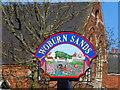 SP9235 : Woburn Sands village sign by Bikeboy