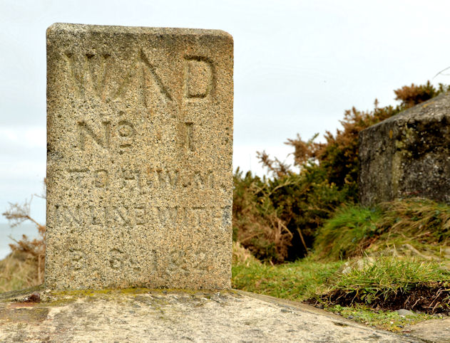 Former War Department (WD) marker stone, Grey Point, Helen's Bay