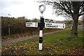 SU8427 : Road sign, Fernhurst Rd by N Chadwick