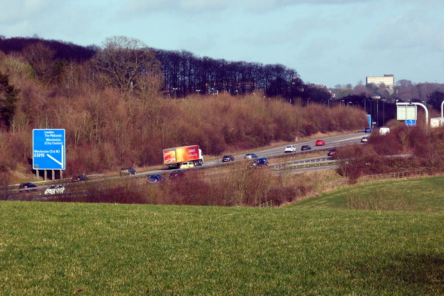View towards the M3 from Shawford