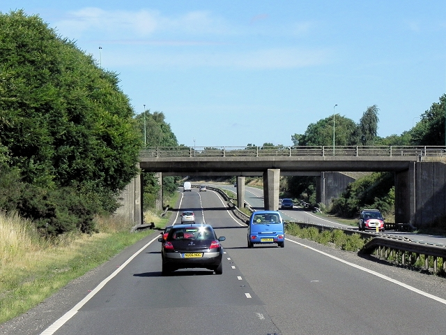 Westbound A14, Flyover at Junction 59 (Trimley)