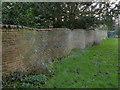 SK2627 : Churchyard wall, Egginton by Alan Murray-Rust