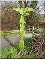 NZ9405 : Millennium signpost, Robin Hoods Bay by Humphrey Bolton