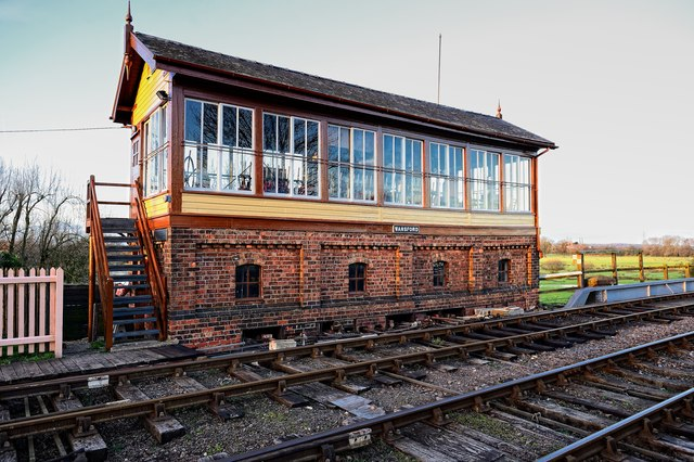 The signal box, Wansford station