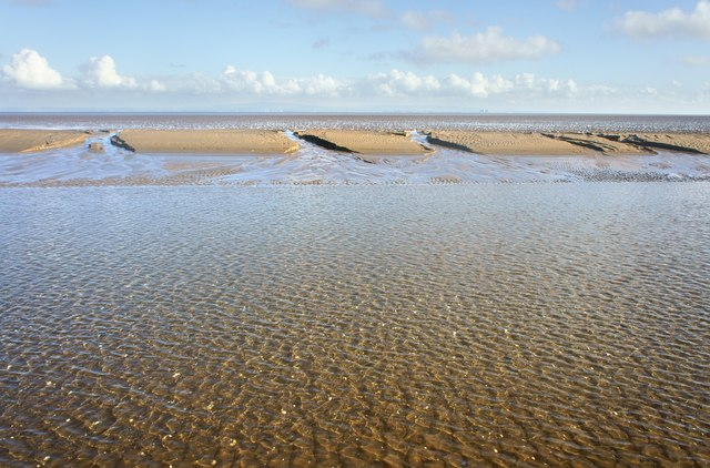 Sandbank in Morecambe Bay