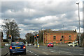 SE3418 : Walton Lane/Castle Road traffic lights by Pauline E