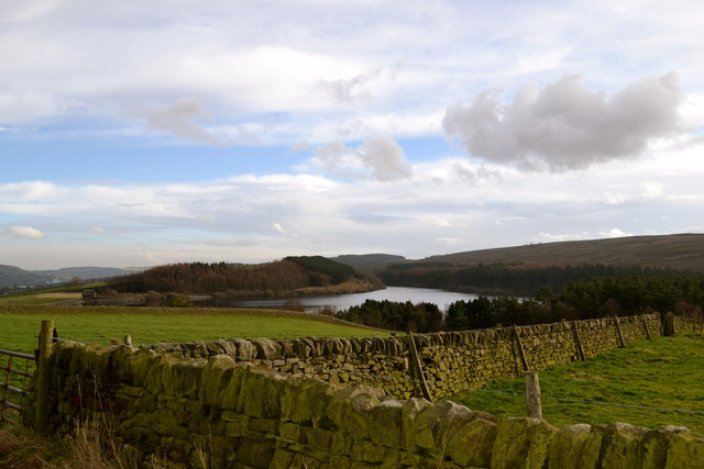 Midhope Reservoir and surrounds, viewed from Midhope Hall Lane, near Upper Midhope