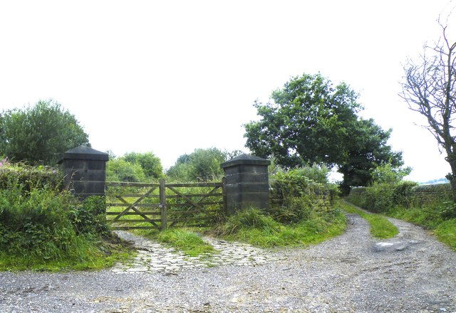 Gateway on the corner of Dark Lane and Midhope Hall Lane, near Upper Midhope