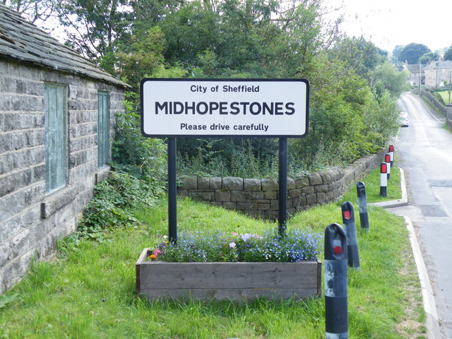 Village Sign, Mortimer Road, Midhopestones, near Stocksbridge