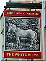 TL8407 : Inn sign, The White Horse, Maldon by Robin Webster