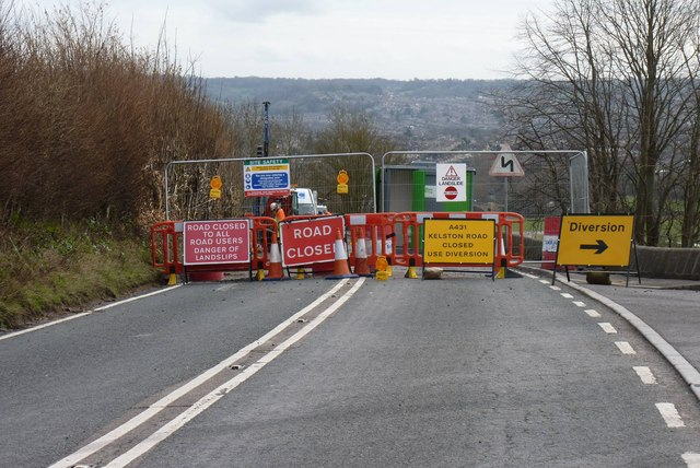 A 431 closed at Kelston February 2014