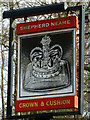 SU8357 : Crown & Cushion inn sign by Robin Webster