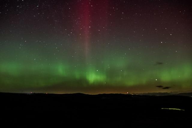 Aurora over the Tarff Valley