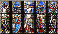 NZ2464 : Stained glass window, Newcastle Cathedral : Week 9