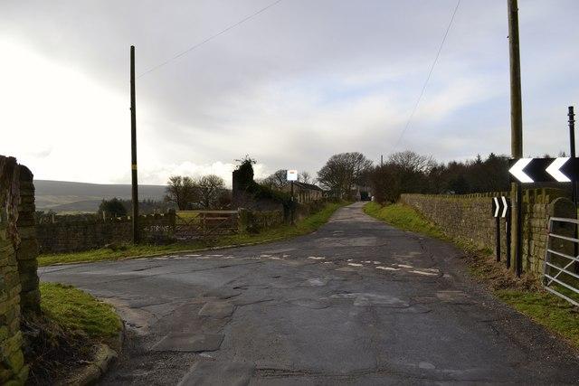 Midhope Lane and Stocks Lane Junction, Upper Midhope, near Stocksbridge