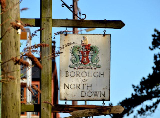North Down borough boundary sign, Holywood