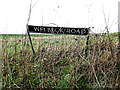 TG2900 : Wellbeck Road sign by Adrian Cable