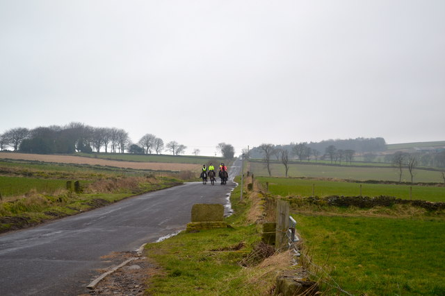 Riders on Kirk Edge Road, Worrall, near Oughtibridge - 1