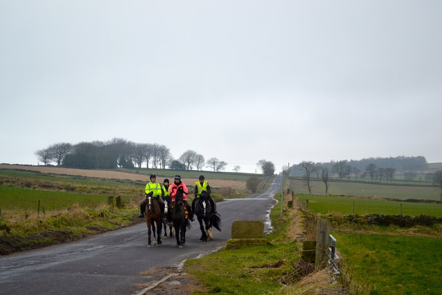 Riders on Kirk Edge Road, Worrall, near Oughtibridge - 2