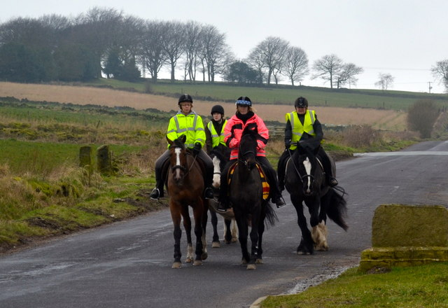 Riders on Kirk Edge Road, Worrall, near Oughtibridge - 3
