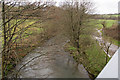 SS7425 : Looking down the river Yeo from the A361 near Bish Mill Gate by Roger A Smith