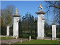 TL3250 : Entrance gates to Wimpole Hall in Arrington by Richard Humphrey