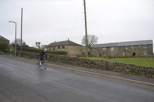 Trying out the Tour de France Route, Kirk Edge Road, Worrall, near Oughtibridge