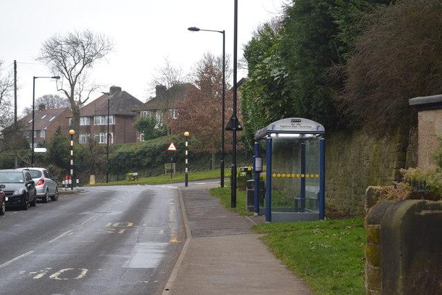 Bus Stop on Haggstones Road, Worrall, near Oughtibridge