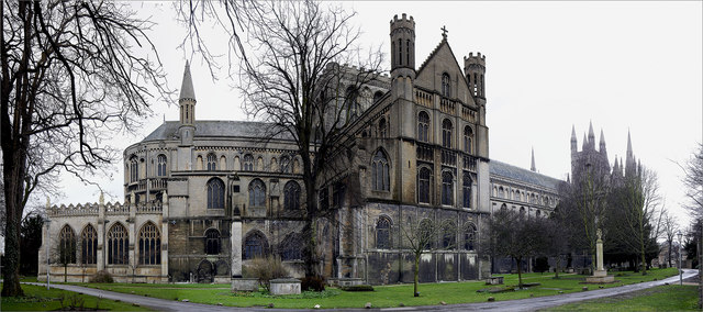 Peterborough Cathedral - from the northeast