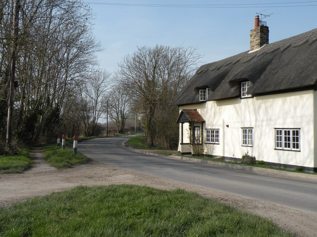 Eversden Road, just west of Harlton village