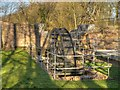 SJ5396 : Reconstructed Water Wheel at Stanley Mill, Stanley Bank by David Dixon