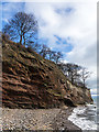 NT2992 : Sandstone cliff near Ravenscraig Park : Week 11