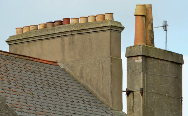 Chimneys and chimney pots, Bangor