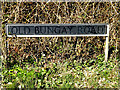 TM3693 : Old Bungay Road sign by Adrian Cable