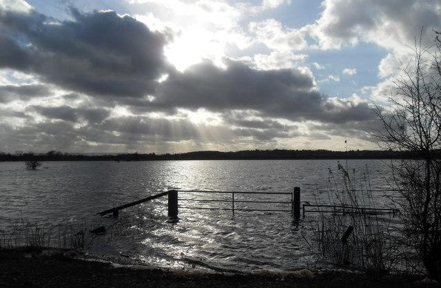 Flooded fields around Muchelney
