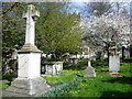 TQ6573 : Milton Churchyard and the war memorial by Marathon