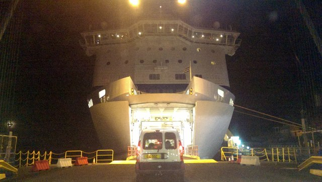 Boarding The Brittany Ferries Vessel 169 Rod Allday Cc By