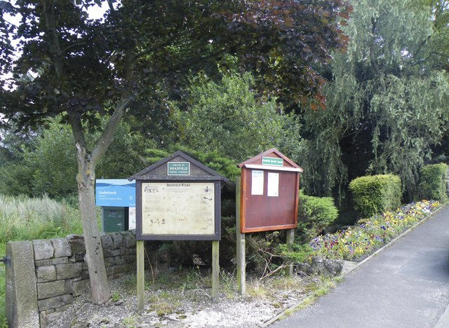 Bradfield Parish Council Notice Boards, Mortimer Road, Midhopestones, near Stocksbridge