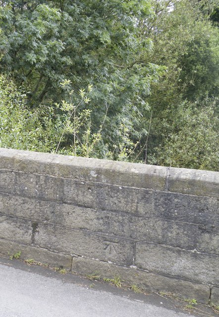 Benchmark on Midhopestones Bridge, Mortimer Road, Midhopestones, near Stocksbridge - 1