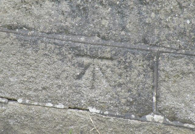 Benchmark on Midhopestones Bridge, Mortimer Road, Midhopestones, near Stocksbridge - 2