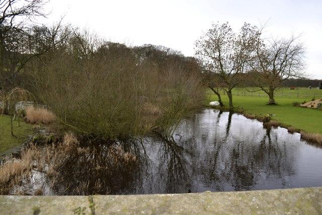 River Porter in February 2014, looking upstream from Midhopestones Bridge