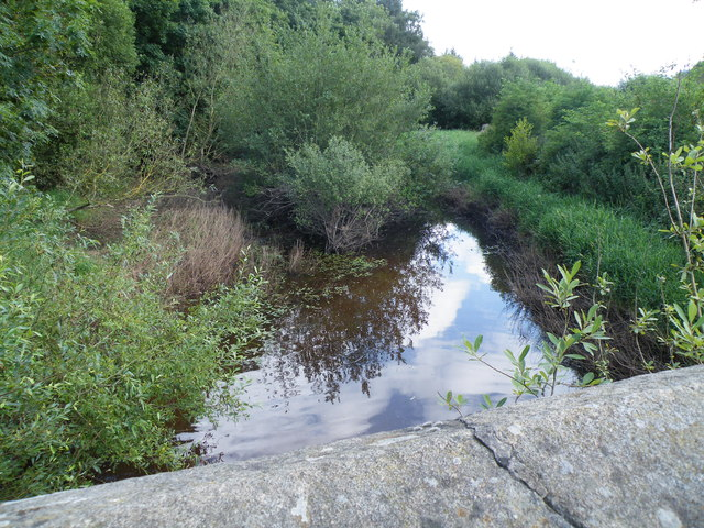 River Porter in August 2012, looking downstream from Midhopestones Bridge