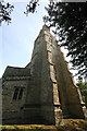 SP9955 : St Peter, Pavenham - tower & spire by David Kemp