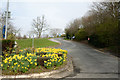 SO9981 : Access road to Frankley Services by Trevor Littlewood