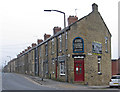 SE3909 : Cudworth - terraces on Pontefract Road by Dave Bevis