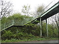 TQ1757 : Footbridge over the A243, Leatherhead : Week 14