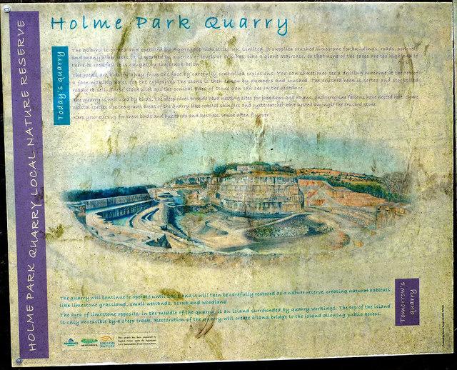 Information Panel Holme Park Quarry