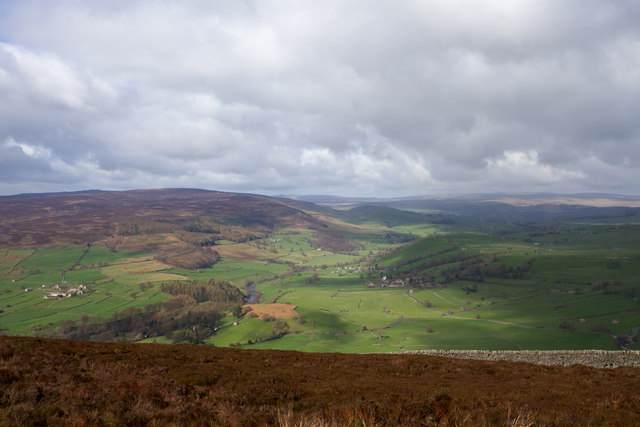 View from the path, across moorland